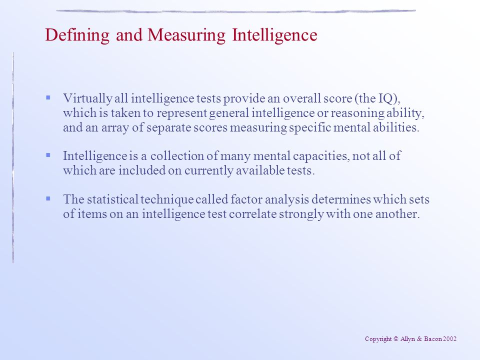 an essay on iq tests and the measuring of intelligence Intelligence testing intelligence tests are used to determine someone s raw intelligence testing essay why iq test don`t measure intelligence testing.