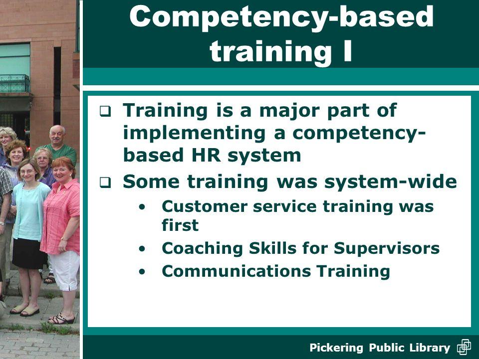 Competency-based training I