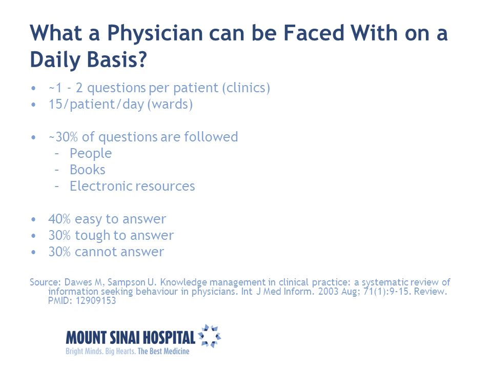 What a Physician can be Faced With on a Daily Basis