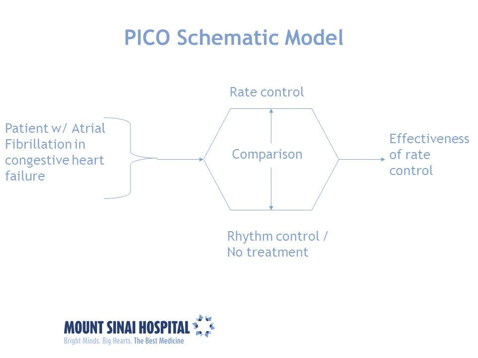 PICO Schematic Model Rate control Patient w/ Atrial Fibrillation in