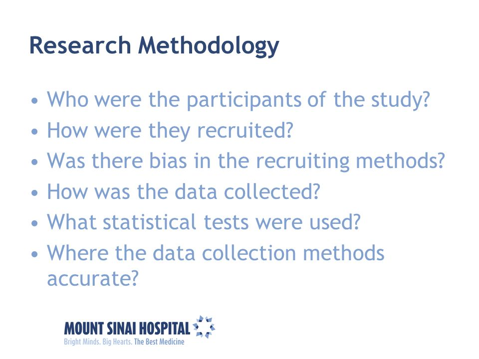 Research Methodology Who were the participants of the study