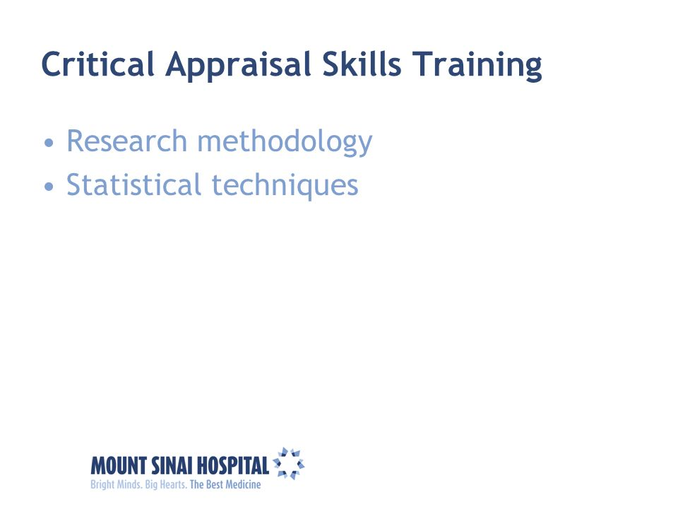 Critical Appraisal Skills Training