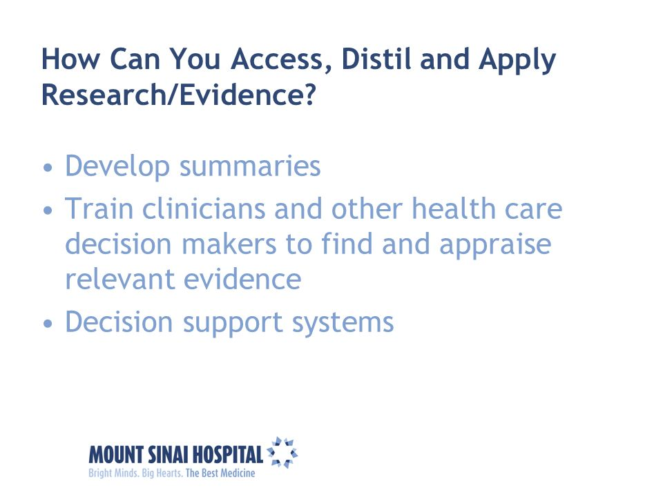 How Can You Access, Distil and Apply Research/Evidence