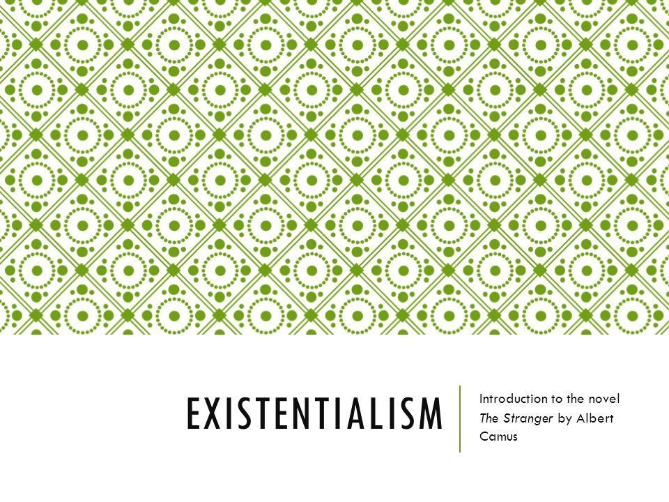existentialism in the outsider