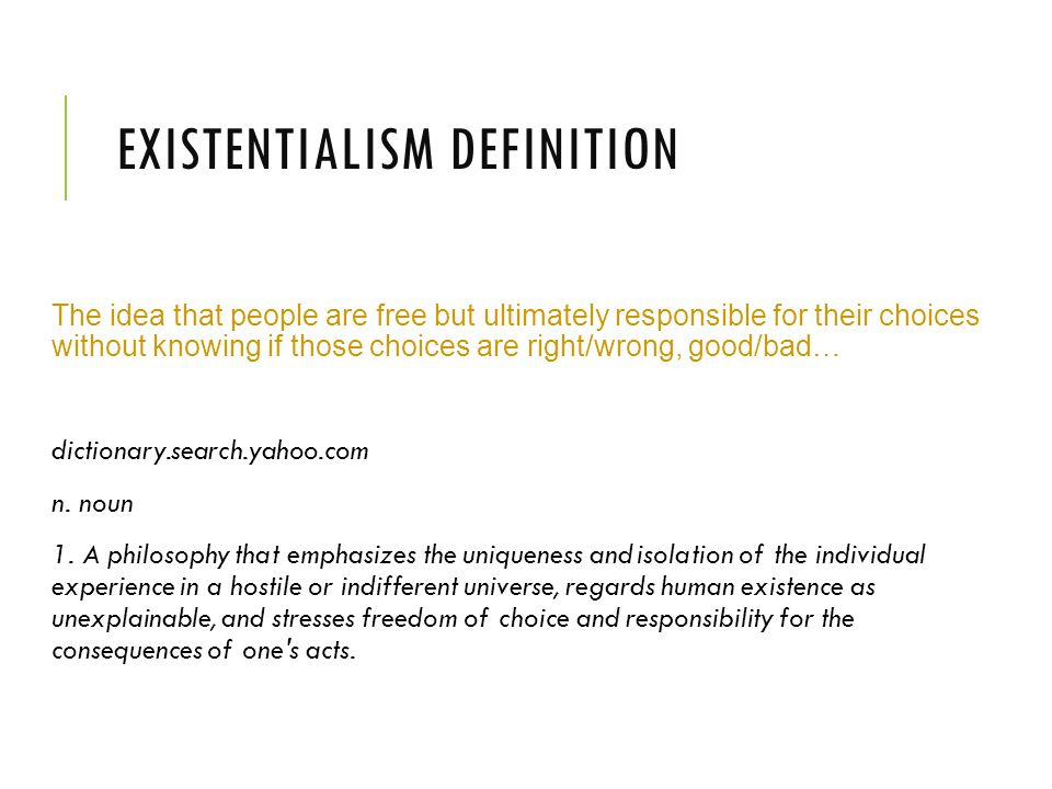 Charming Existentialism Definition