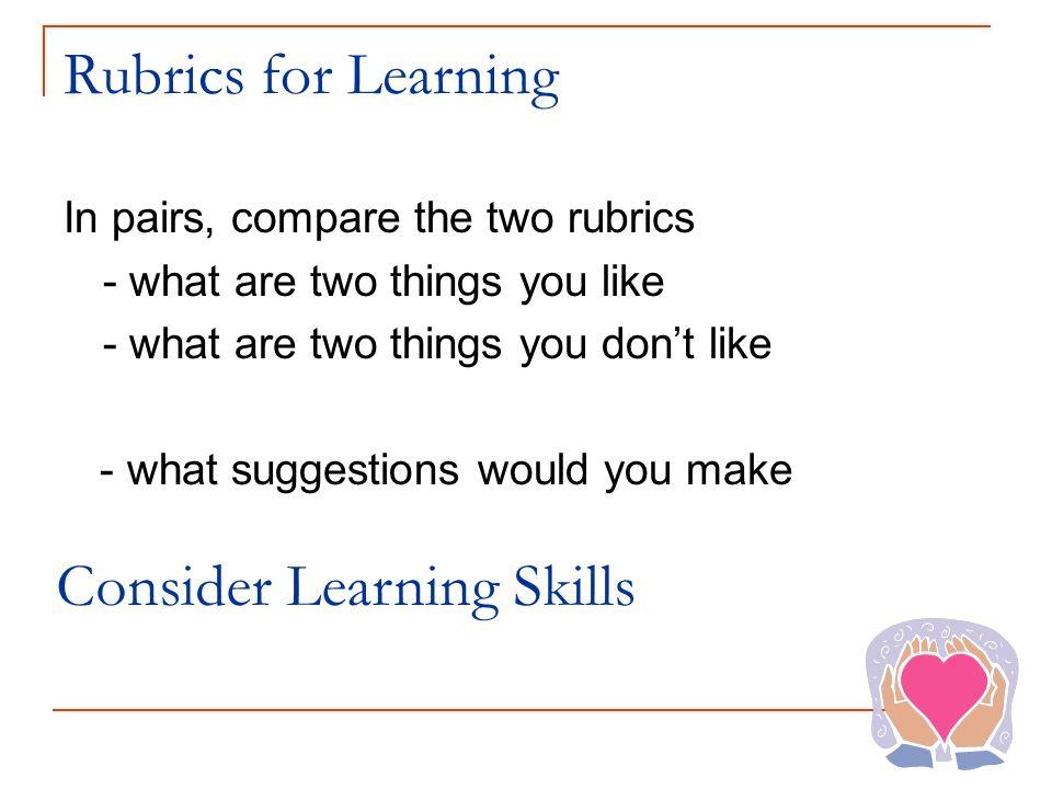 Consider Learning Skills