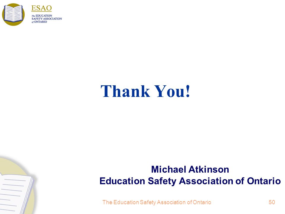Michael Atkinson Education Safety Association of Ontario