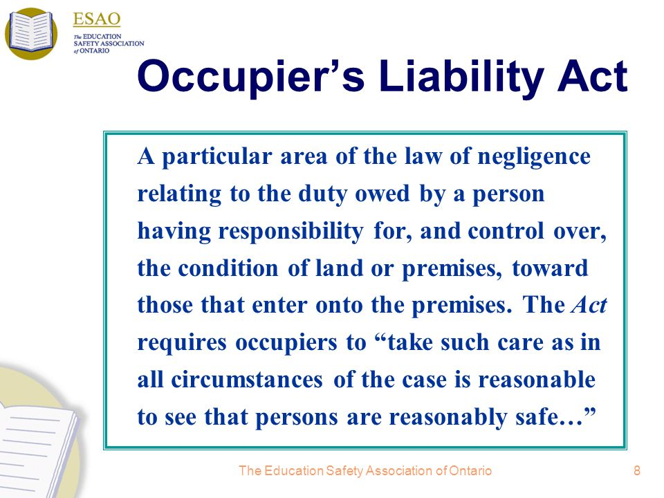 Occupier's Liability Act