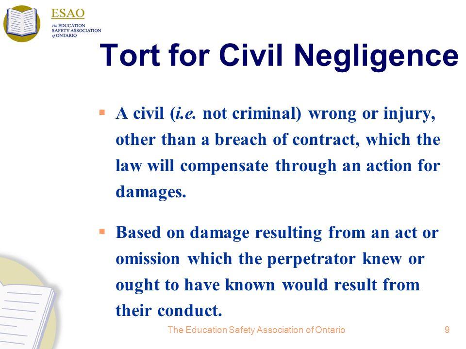 Tort for Civil Negligence