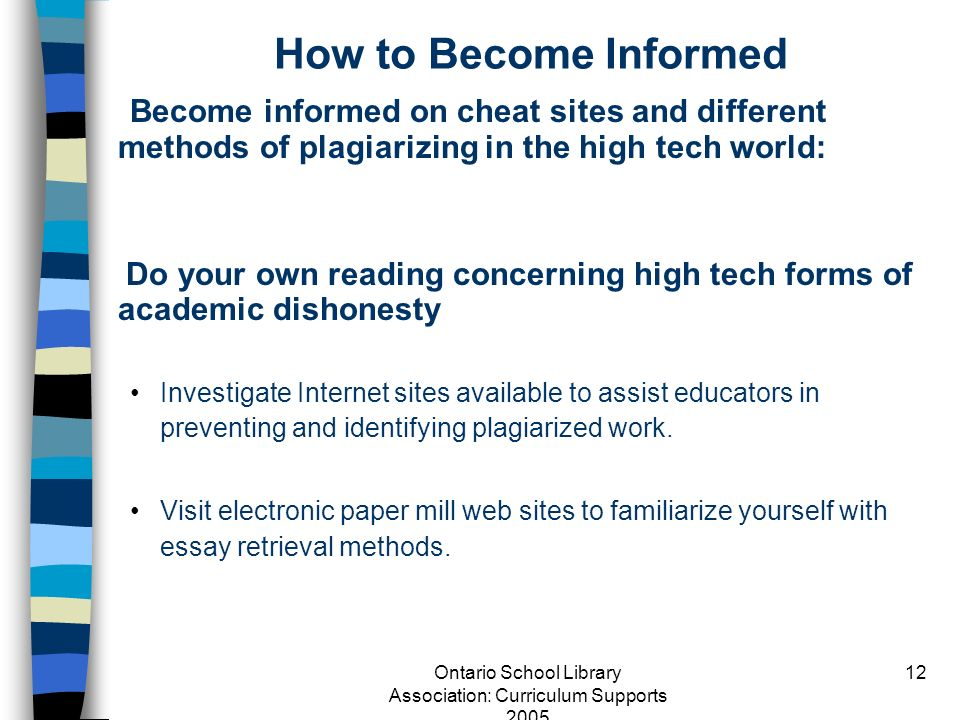 Effects of internet on academic fraud essay