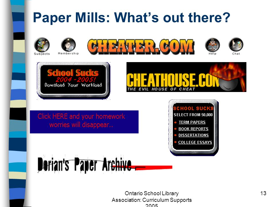 Paper Mills: What's out there