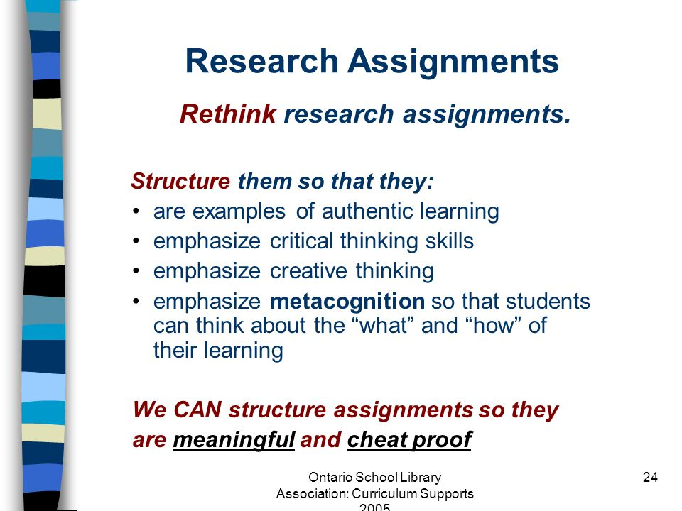 Rethink research assignments.