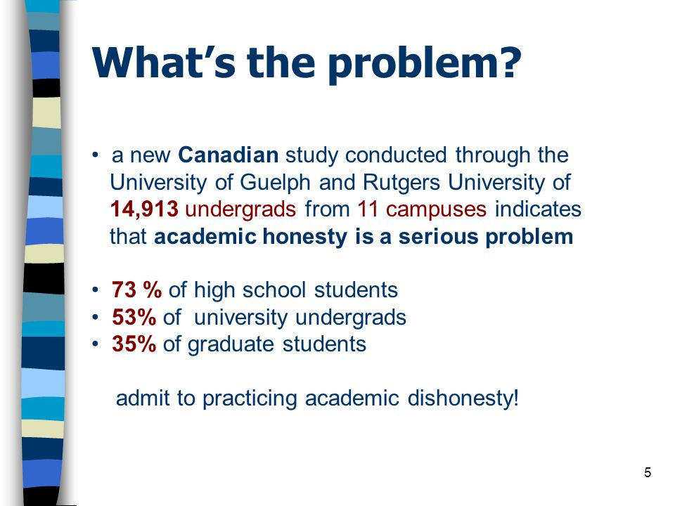 What's the problem a new Canadian study conducted through the