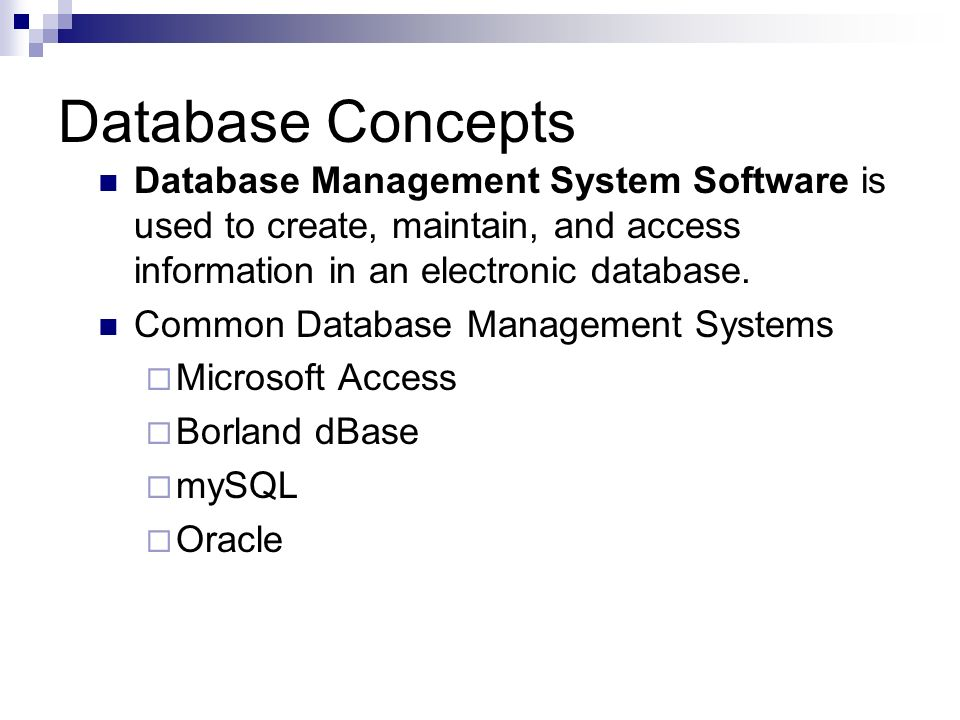 Application Software: Databases - ppt video online download