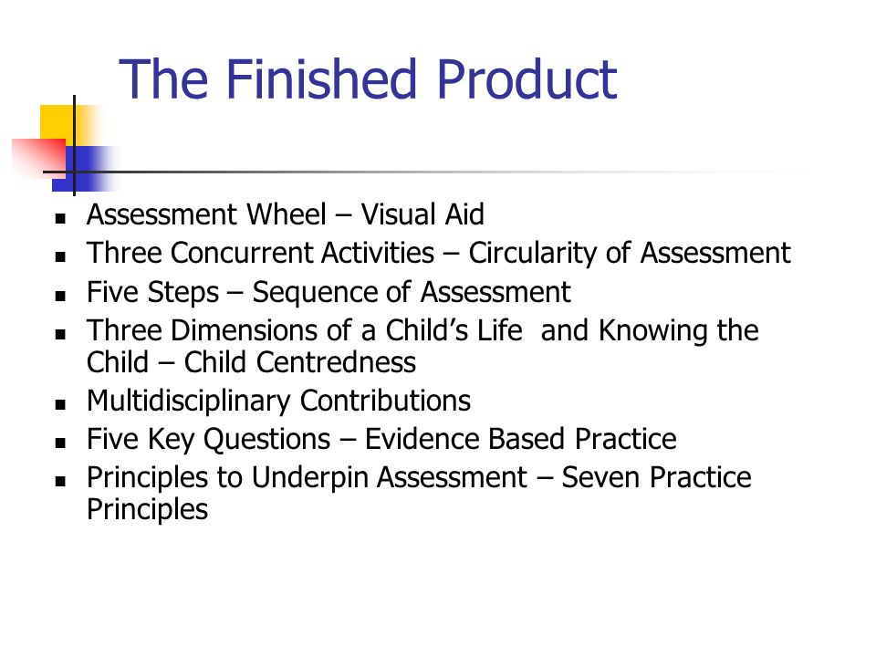 The Finished Product Assessment Wheel – Visual Aid