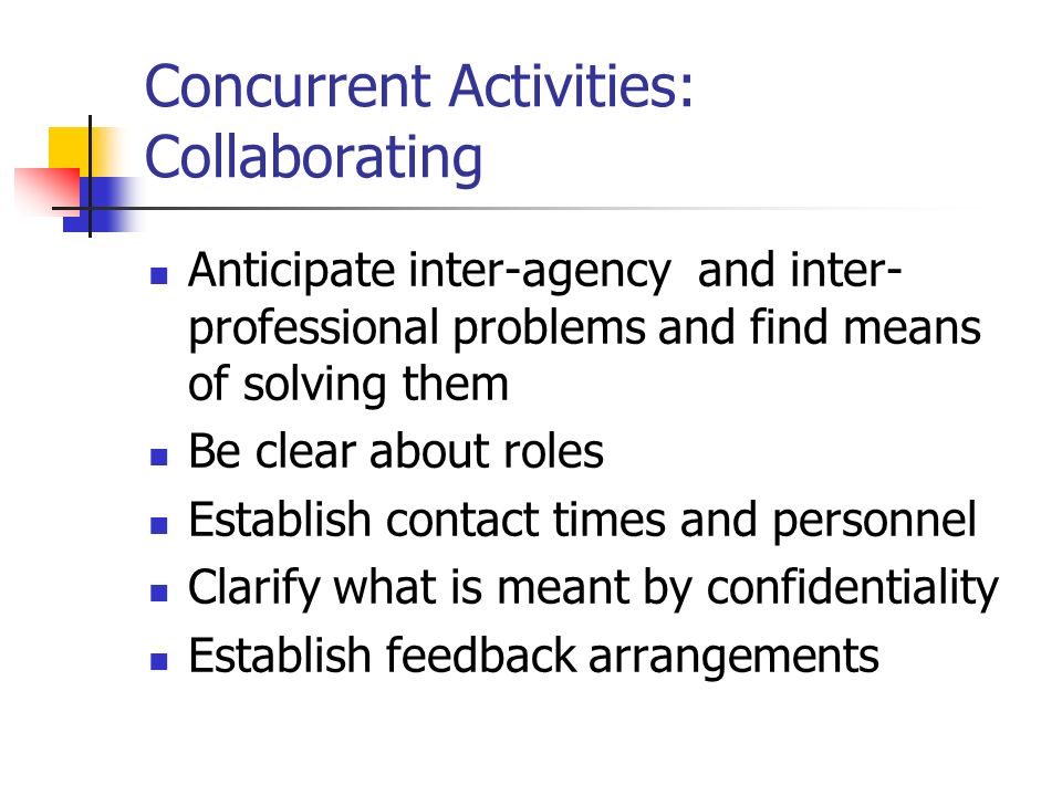Concurrent Activities: Collaborating