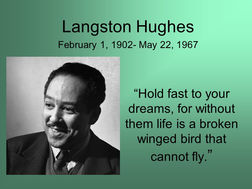 the reality of dreams in the poems of langston hughes Browse through langston hughes's poems and quotes 104 poems of langston hughes still i rise, the road not taken, if you forget me, dreams, annabel lee hughes was an american poet, social.