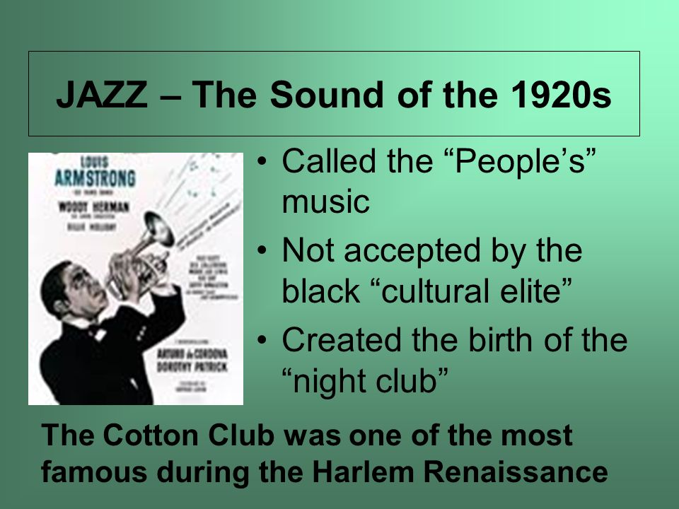 JAZZ – The Sound of the 1920s Called the People's music