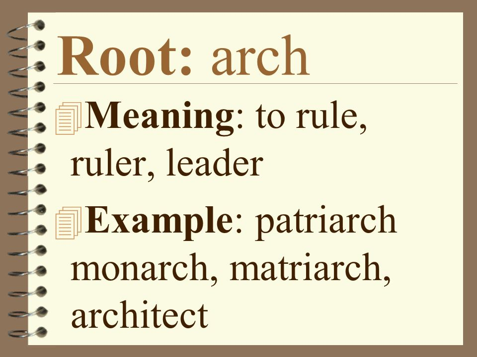 Root words set 1 ppt video online download for Rule of three meaning