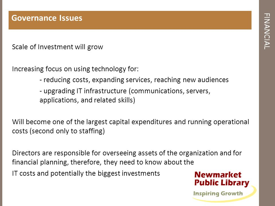 Governance Issues FINANCIAL