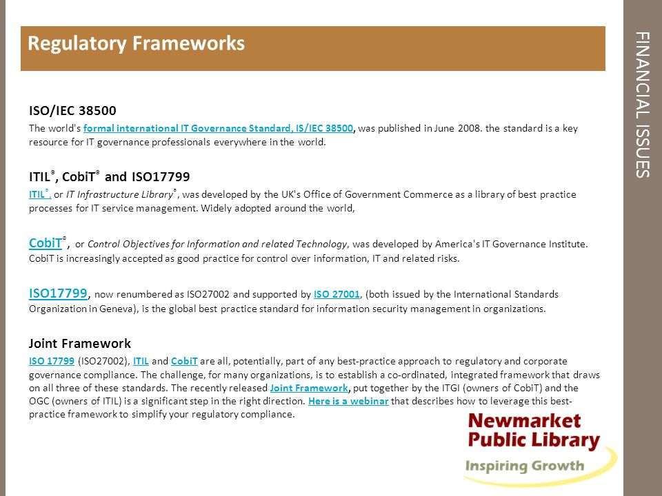 Regulatory Frameworks