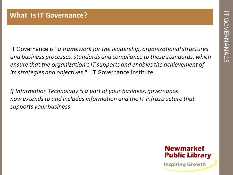 What Is IT Governance IT GOVERNANACE