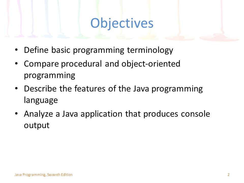 a comparison of the two object oriented programming languages java and c Oops concept in java object oriented programming system is a programming in object oriented the first object oriented programming languages started to.