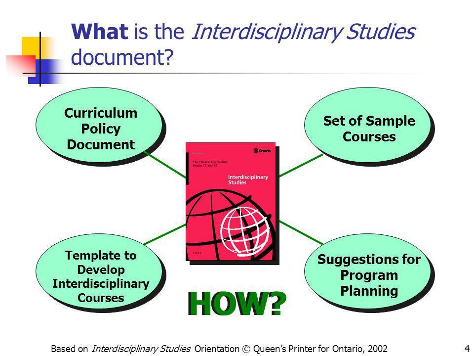 What is the Interdisciplinary Studies document