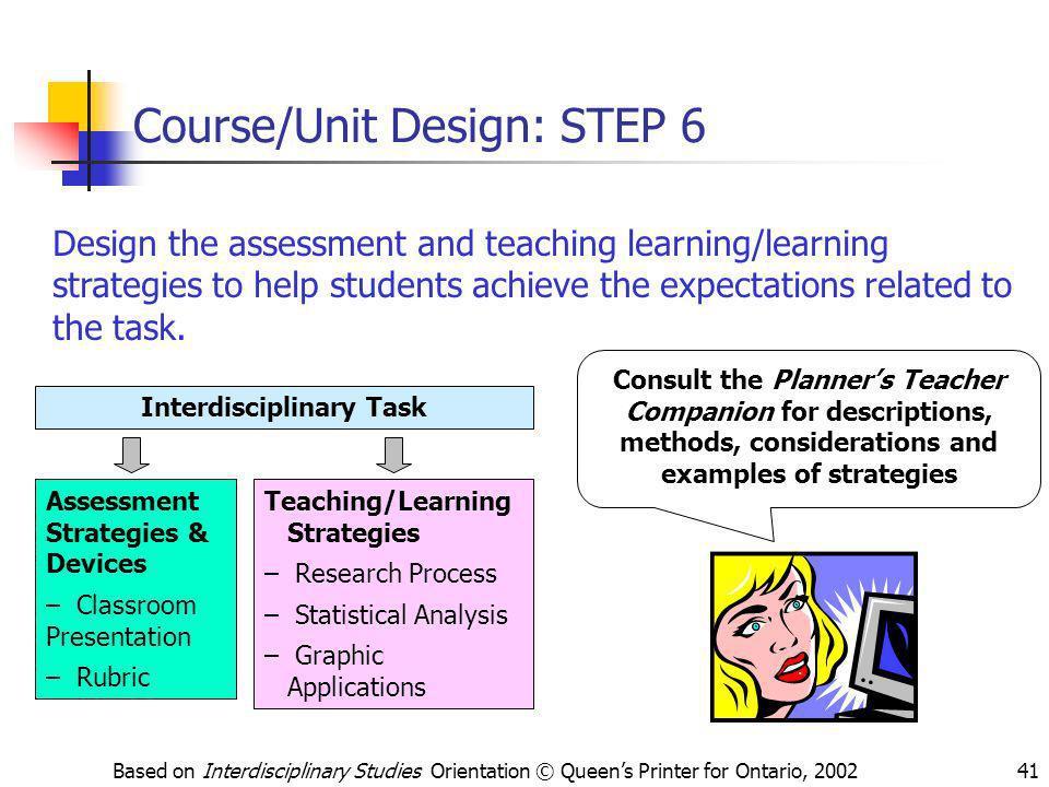 Course/Unit Design: STEP 6