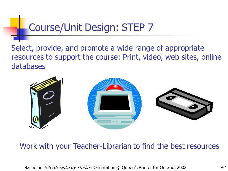 Course/Unit Design: STEP 7
