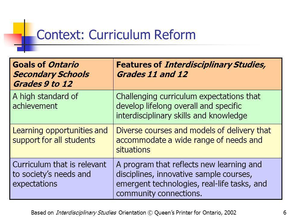 Context: Curriculum Reform