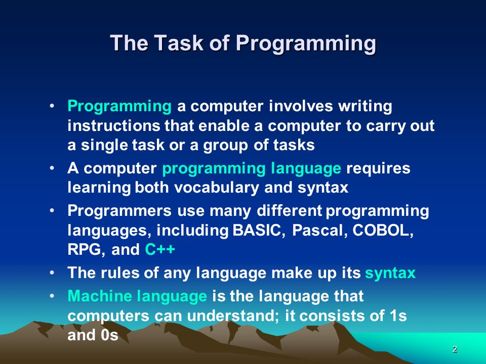 The Task of Programming