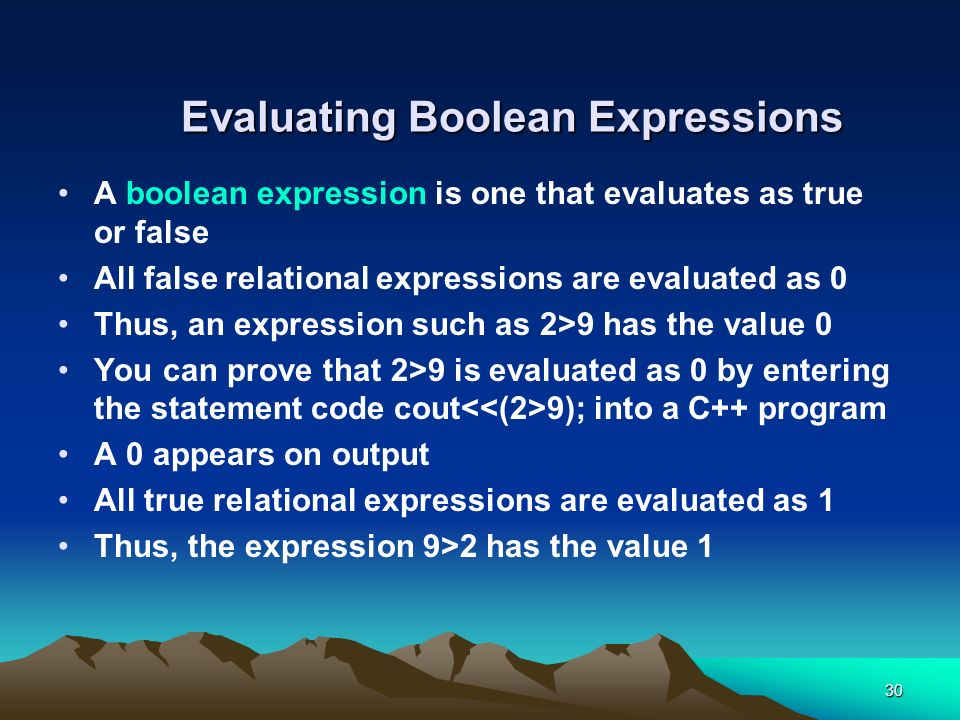 Evaluating Boolean Expressions