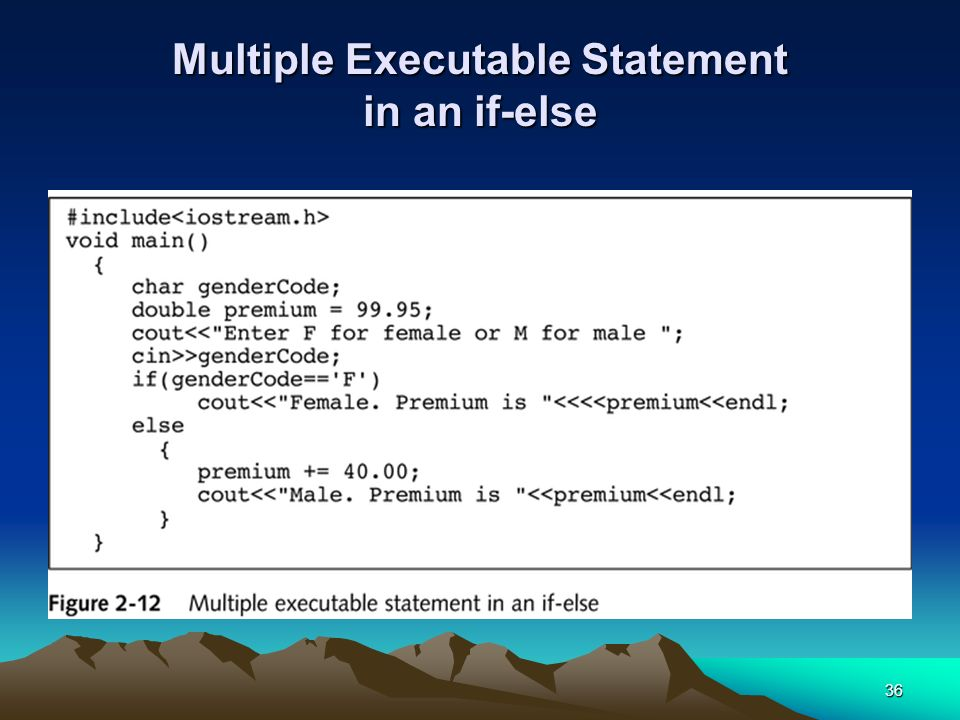 Multiple Executable Statement in an if-else