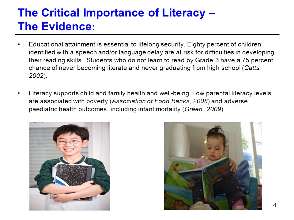 The Critical Importance of Literacy – The Evidence: