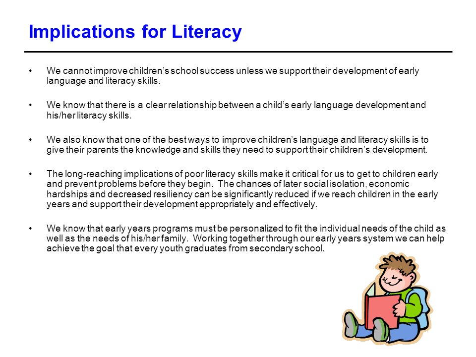 Implications for Literacy