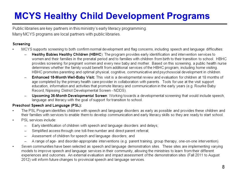 MCYS Healthy Child Development Programs