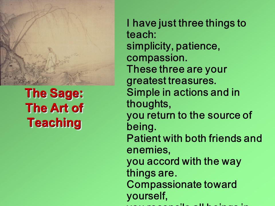 The Sage: The Art of Teaching