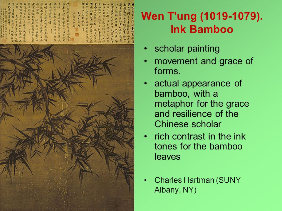 Wen T ung (1019-1079). Ink Bamboo scholar painting