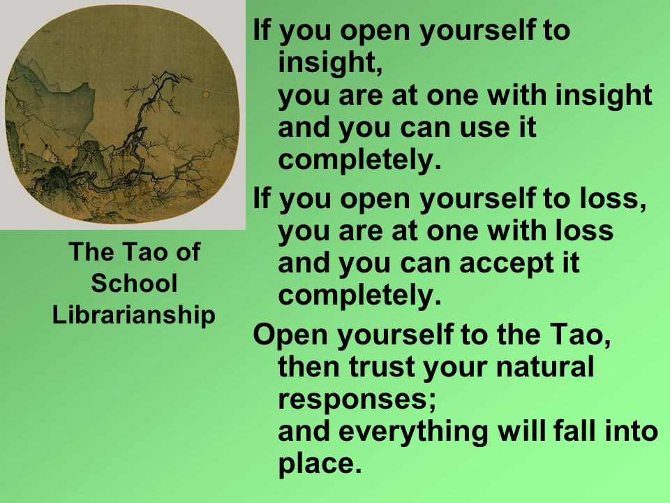 The Tao of School Librarianship