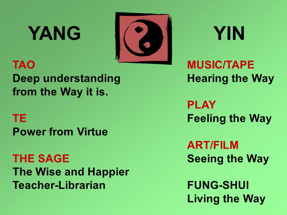 YANG TAO YIN MUSIC/TAPE Deep understanding from the Way it is. TE