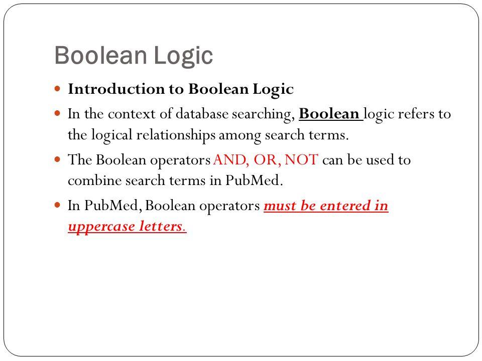 introduction to boolean logic pdf
