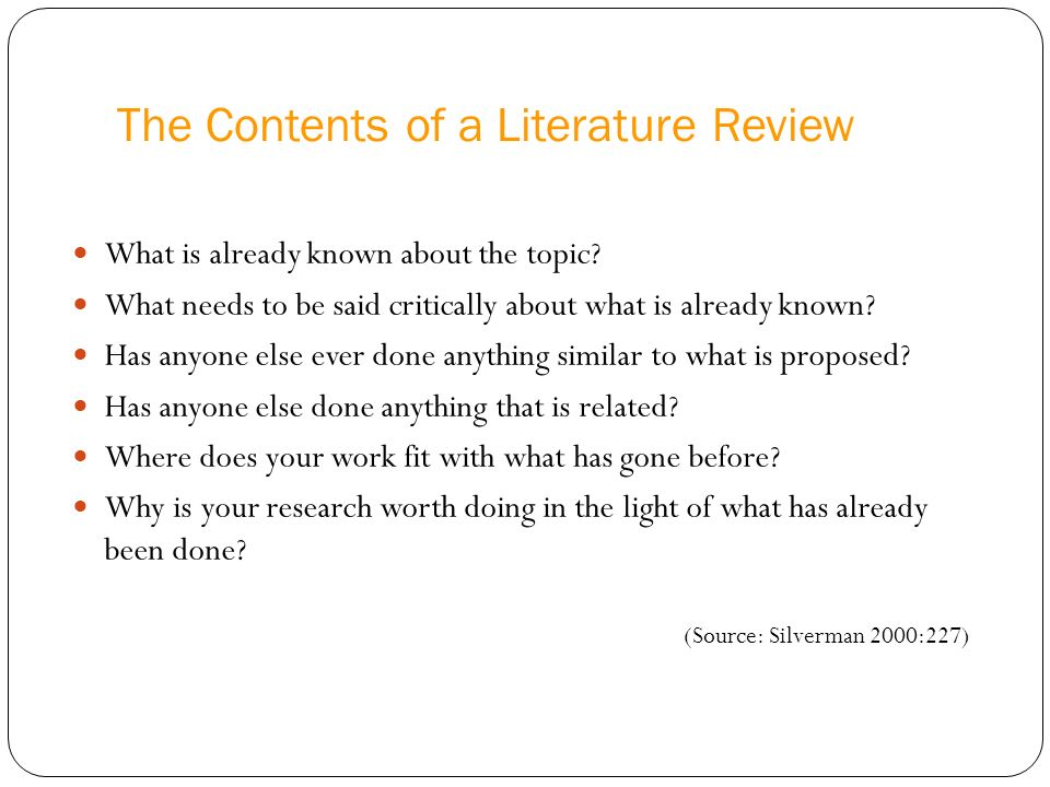 EBM I Literature Review Requirements: Introduction