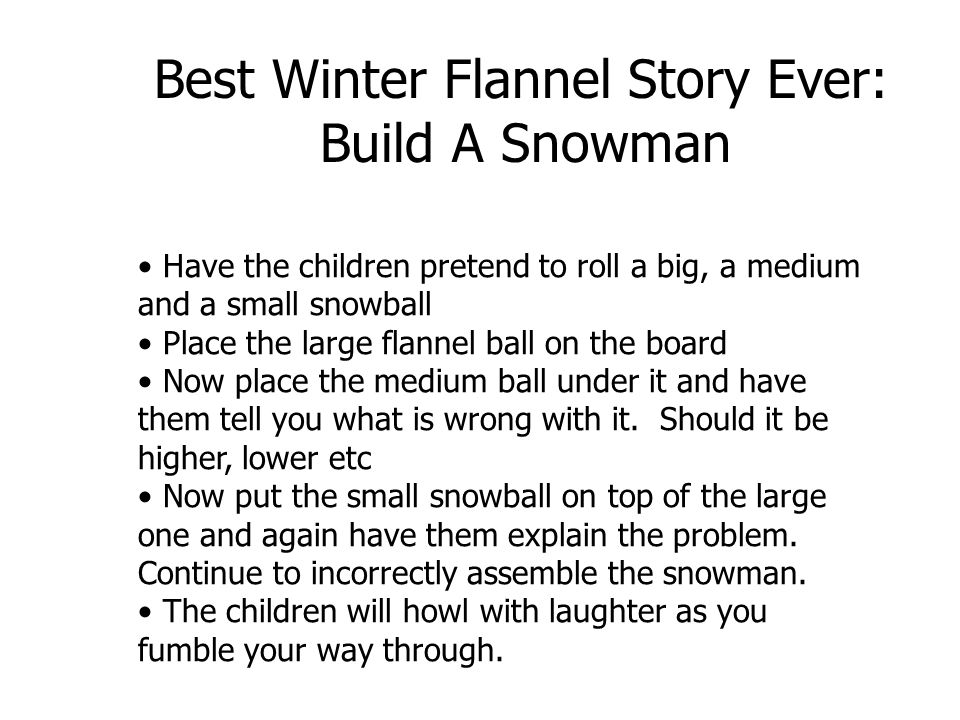 Best Winter Flannel Story Ever: