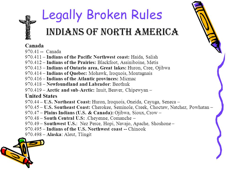 Legally Broken Rules Indians of North America