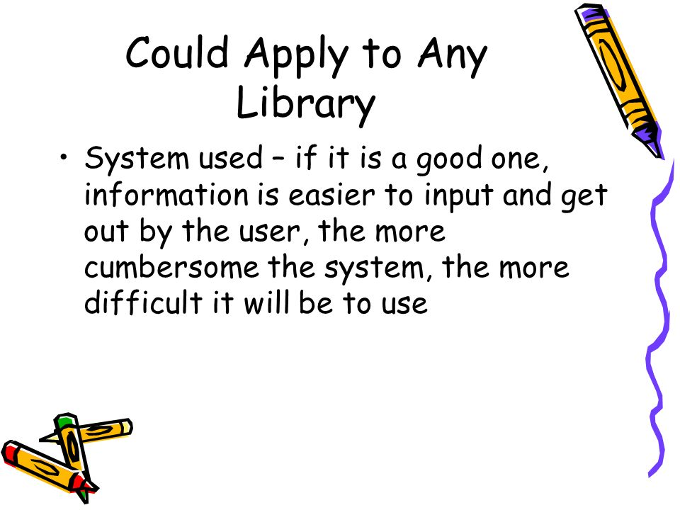 Could Apply to Any Library