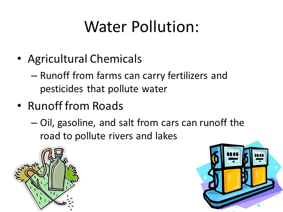 Water Pollution: Agricultural Chemicals Runoff from Roads