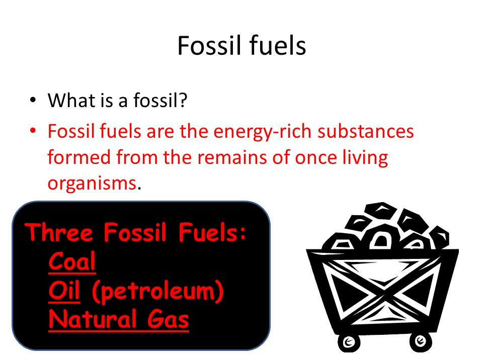 Fossil fuels Three Fossil Fuels: Coal Oil (petroleum) Natural Gas