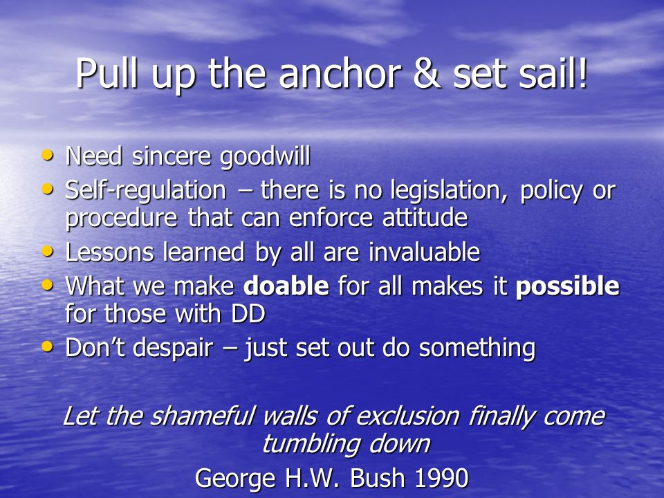 Pull up the anchor & set sail!