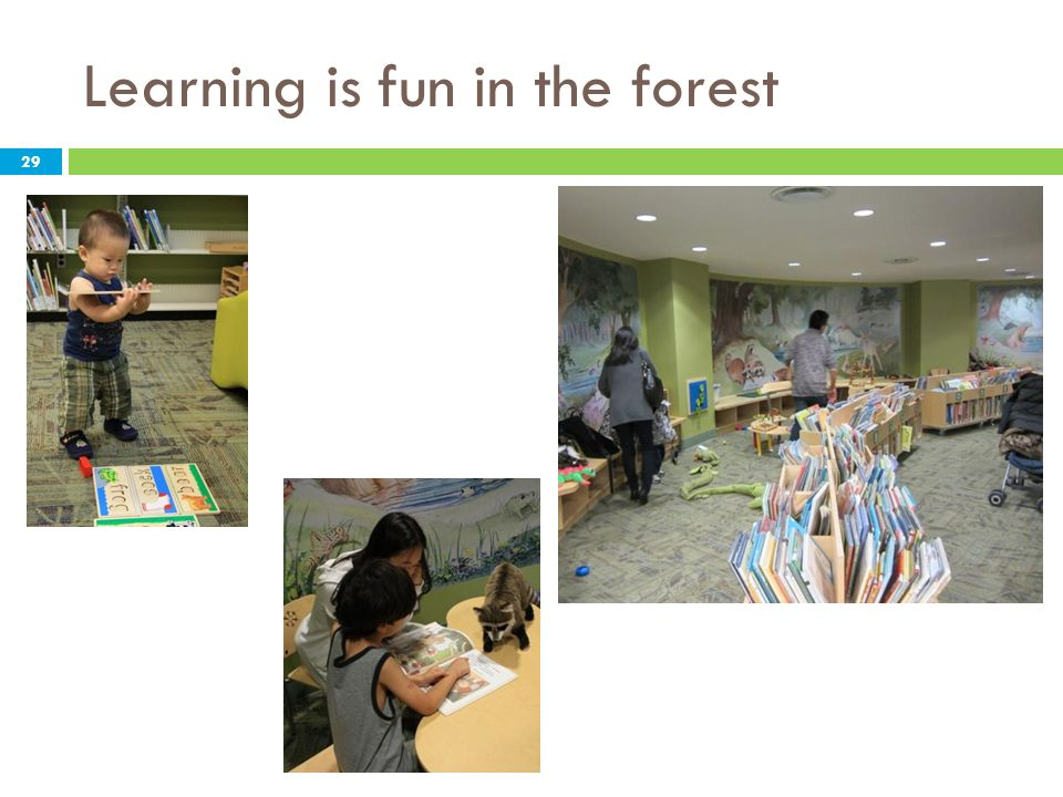 Learning is fun in the forest